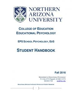 COLLEGE OF EDUCATION EDUCATIONAL PSYCHOLOGY
