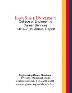 College of Engineering Career Services Annual Report
