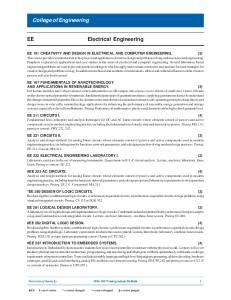 College of Engineering. Electrical Engineering