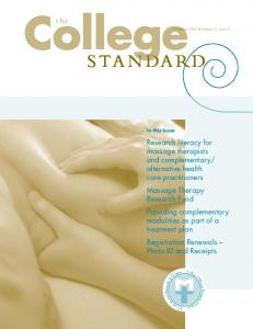 College STANDARD. the November 2005 Volume 12 Issue 3