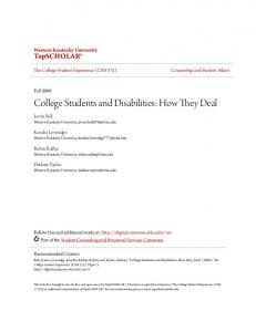 College Students and Disabilities: How They Deal