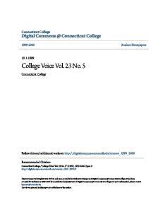 College Voice Vol. 23 No. 5