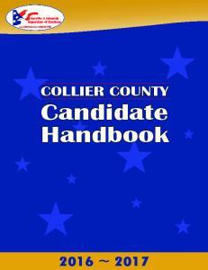 COLLIER COUNTY. Candidate Handbook