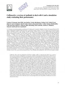 Collinearity: a review of methods to deal with it and a simulation study evaluating their performance