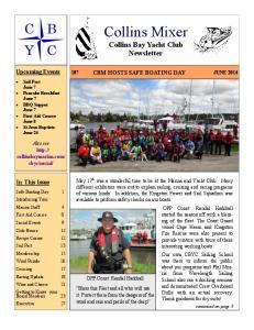 Collins Mixer Collins Bay Yacht Club Newsletter