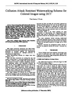 Collusion Attack Resistant Watermarking Scheme for Colored Images using DCT
