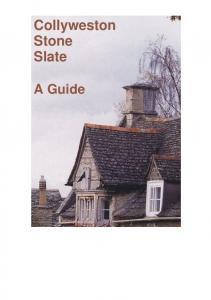 Collyweston Stone Slate. A Guide