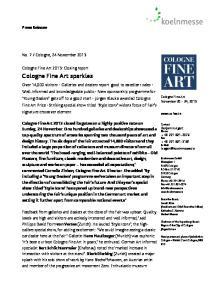 Cologne Fine Art sparkles