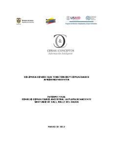 COLOMBIA CONOCE SUS TERRITORIOS Y COMUNIDADES AFRODESCENDIENTES