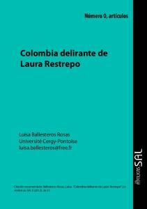 Colombia delirante de Laura Restrepo