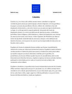 Colombia ENERO DE 2014