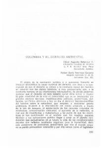 COLOMBIA Y EL DERECHO AMBIENTAL