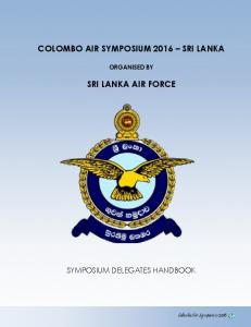 COLOMBO AIR SYMPOSIUM 2016 SRI LANKA SRI LANKA AIR FORCE
