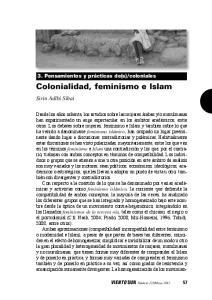 Colonialidad, feminismo e Islam