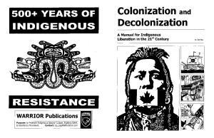 Colonization and Decolonization