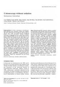 Colonoscopy without sedation