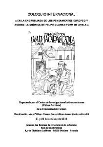 COLOQUIO INTERNACIONAL