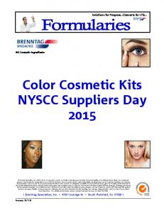 Color Cosmetic Kits NYSCC Suppliers Day 2015