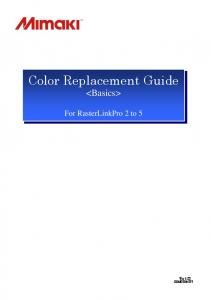 Color Replacement Guide
