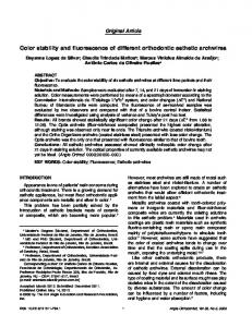 Color stability and fluorescence of different orthodontic esthetic archwires