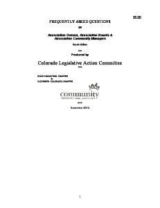 Colorado Legislative Action Committee ***