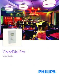 ColorDial Pro. User Guide