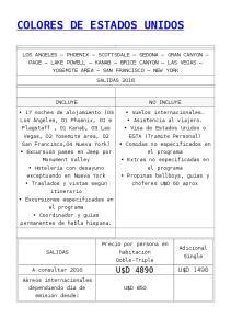COLORES DE ESTADOS UNIDOS