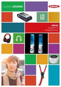COLORFULSOUNDS. ednet Speaker & Headphones