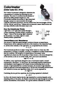 Colorimeter (Order Code COL-BTA)