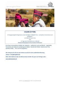 COLORS OF PERU. Internet: