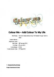 Colour Me Add Colour To My Life