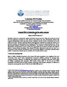 Columbia FDI Profiles