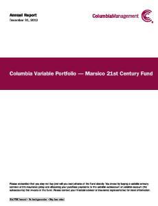 Columbia Variable Portfolio Marsico 21st Century Fund