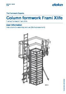 Column formwork Frami Xlife Framed formwork Frami Xlife