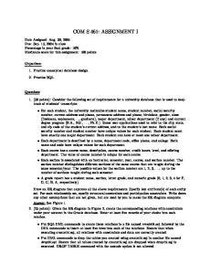 COM S 461: ASSIGNMENT I