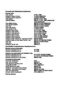Comandos para Ordenadores de Sobremesa Para leer texto: