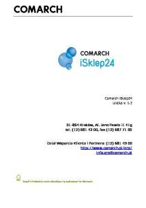Comarch isklep24 Ulotka v. 5.2