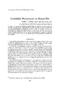 Combability Measurements on Human Hair