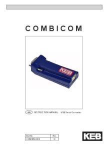 COMBICOM. GB INSTRUCTION MANUAL USB Serial Converter CH580EB-K000