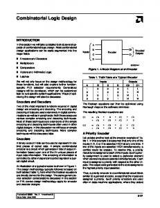 Combinatorial Logic Design
