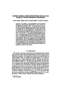 COMBINATORIAL PRECONDITIONERS FOR SCALAR ELLIPTIC FINITE-ELEMENTS PROBLEMS