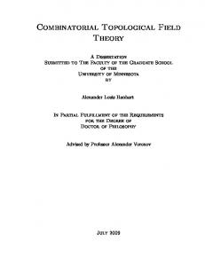Combinatorial Topological Field Theory
