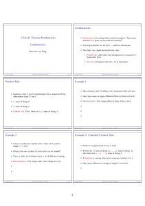 Combinatorics. Example 1