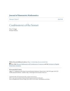 Combinatorics of the Sonnet