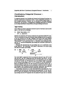 Combinatory Categorial Grammar Introduction
