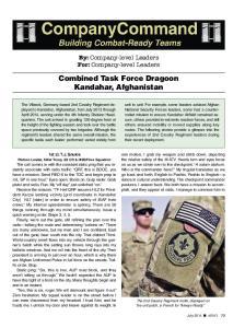 Combined Task Force Dragoon Kandahar, Afghanistan