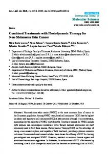 Combined Treatments with Photodynamic Therapy for Non-Melanoma Skin Cancer