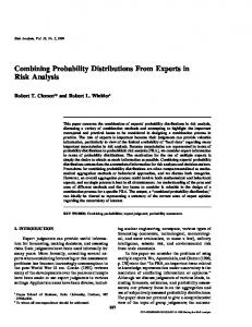 Combining Probability Distributions From Experts in Risk Analysis