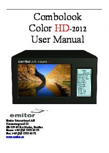 Combolook Color HD-2012 User Manual