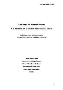 Combray, de Marcel Proust